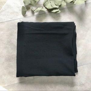 Vintage 80s Black Rive Texture Fabric